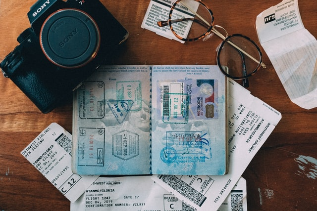 passport tickets and other stuff